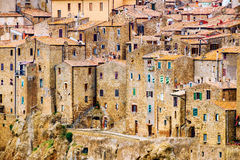 Ciudad Toscana Italia de Pitigliano Foto de archivo