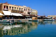 Ciudad tradicional de Rethymno en Crete foto de archivo libre de regalías