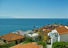 Ciudad tradicional vieja de Kavala en Grecia Imagen de archivo libre de regalías