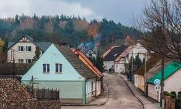 Ciudad Tuczno en Polonia Imágenes de archivo libres de regalías