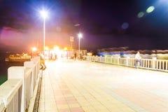 Ciudad turca de las vacaciones de verano en la noche Imagen de archivo