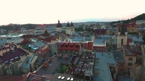 ciudad/ukarina/tejado/partido Lviv metrajes