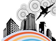 Ciudad urbana stock de ilustración