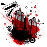 Ciudad urbana abstracta ilustración del vector
