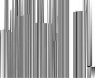 Ciudad urbana abstracta del vector de las rayas de los rascacielos ilustración del vector