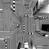 Ciudad urbana abstracta del vector de las rayas de los rascacielos Fotografía de archivo