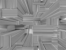 Ciudad urbana abstracta del vector de las rayas de los rascacielos Foto de archivo
