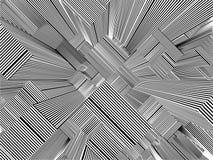 Ciudad urbana abstracta del vector de las rayas de los rascacielos Imagen de archivo