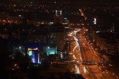 Ciudad urbana de Night fotos de archivo
