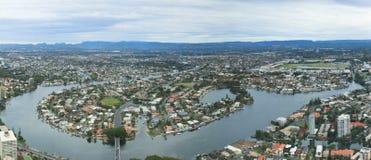 Ciudad urbana en Gold Coast Foto de archivo libre de regalías