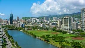 Ciudad urbana Honolulu foto de archivo libre de regalías