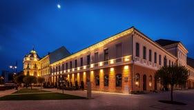 Ciudad v central de Sfantu Gheorghe/de Sepsiszentgyorgy/de San Jorge Imagen de archivo libre de regalías