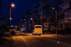 Ciudad vacía en la noche - Turquía del verano Fotos de archivo libres de regalías