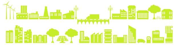 Ciudad verde libre illustration
