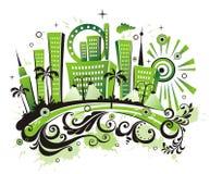 Ciudad verde. Imagenes de archivo