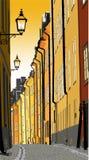 Ciudad vieja stock de ilustración
