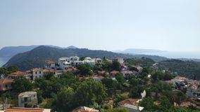 Ciudad vieja Alonissos, Grecia fotografía de archivo libre de regalías