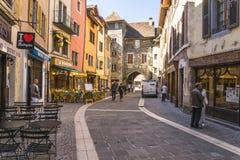 Ciudad vieja Annecy Imágenes de archivo libres de regalías