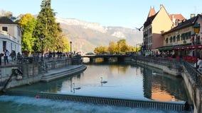 Ciudad vieja, Annecy, Francia almacen de video