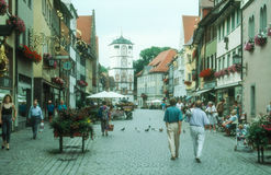 Ciudad vieja antigua Isny im Allgau Foto de archivo