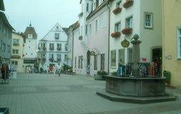 Ciudad vieja antigua Isny im Allgau Imagen de archivo