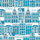 Ciudad vieja azul stock de ilustración