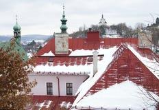 Ciudad vieja Banska Stiavnica de la explotación minera Fotos de archivo