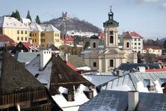 Ciudad vieja Banska Stiavnica de la explotación minera Foto de archivo
