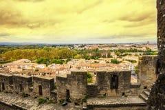 Ciudad vieja Carcasona Imagen de archivo libre de regalías