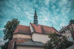 Ciudad vieja Cracovia fotografía de archivo