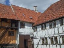 Ciudad vieja de Aarhus en Dinamarca Foto de archivo libre de regalías
