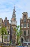 Ciudad vieja de Amsterdam, Países Bajos Fotos de archivo libres de regalías