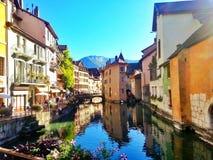 Ciudad vieja de Annecy, Francia Foto de archivo