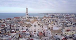Ciudad vieja de Bari, Puglia, Italia almacen de video