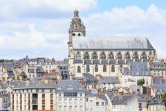 Ciudad vieja de Blois en el valle del Loira Imagen de archivo libre de regalías