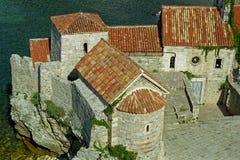 Ciudad vieja de Budva Imágenes de archivo libres de regalías