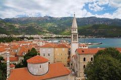 Ciudad vieja de Budva, Montenegro Fotos de archivo