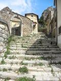 Ciudad vieja de Castel di Sangro Foto de archivo libre de regalías