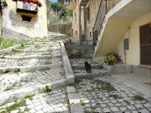 Ciudad vieja 2 de Castel di Sangro fotos de archivo