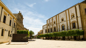 Ciudad vieja de Castelvetrano, isla de Sicilia fotografía de archivo libre de regalías