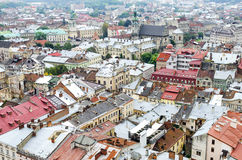 Ciudad vieja de desde arriba Fotografía de archivo