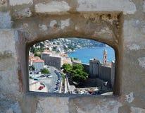Ciudad vieja de Dubrovnik, Croatia Balcanes, mar adriático, Europa Cárpato, Ucrania, Europa foto de archivo