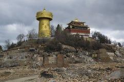 Ciudad vieja de Dukezong en Shangrila Foto de archivo
