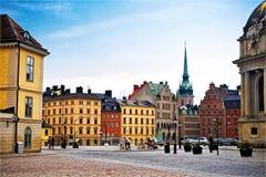 Ciudad vieja de Estocolmo Imagen de archivo libre de regalías