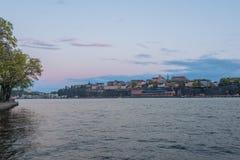 Ciudad vieja de Estocolmo de la ciudad Foto de archivo libre de regalías
