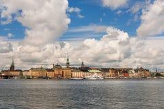 Ciudad vieja de Estocolmo, horizonte clásico Imagen de archivo libre de regalías