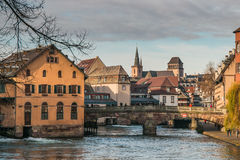 Ciudad vieja de Estrasburgo en Alsacia foto de archivo libre de regalías