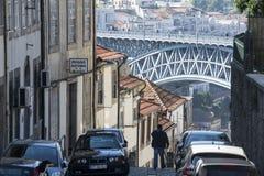 CIUDAD VIEJA DE EUROPA PORTUGAL OPORTO RIBEIRA Imágenes de archivo libres de regalías