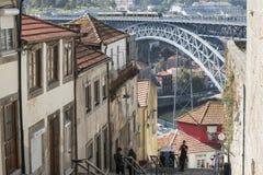 CIUDAD VIEJA DE EUROPA PORTUGAL OPORTO RIBEIRA Fotos de archivo libres de regalías