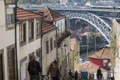 CIUDAD VIEJA DE EUROPA PORTUGAL OPORTO RIBEIRA Foto de archivo libre de regalías